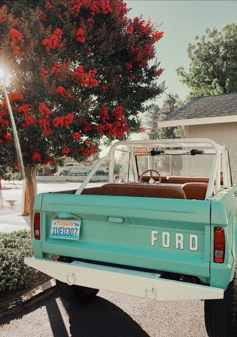 xoxo Great Tagged with aesthetic art car cute mint nature photography retro summer vintage Summer Aesthetic, Retro Aesthetic, My Dream Car, Dream Cars, Jeep Camping, Cute Cars, Fancy Cars, Photo Wall Collage, Ford Bronco