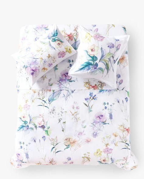 Copripiumino Zara Home.Copripiumino Double Face Con Stampa Botanica Bed Linens Luxury