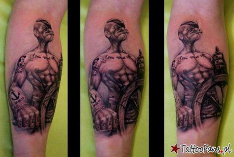 Popeye Tattoo By Maciej Grzywna Tatu Tatuaże
