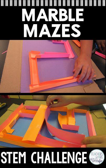 Stem Challenge Marble Maze Stem Challenges Stem Activities Stem Projects