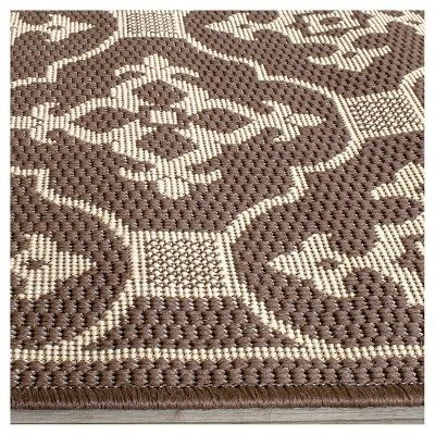 Coventry Rectangle 4 X 5 7 Outdoor Rug Chocolate Cream