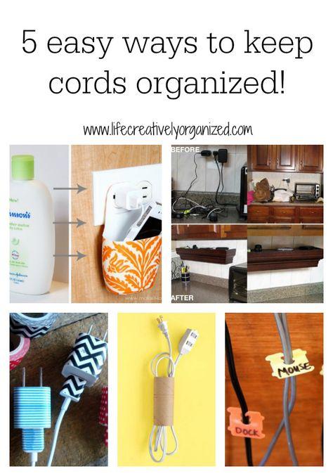 5 Easy Ways To Keep Cords Organized