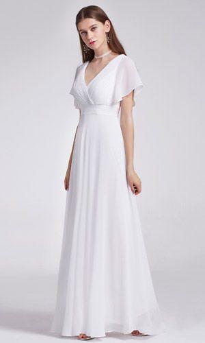 Uzun Abiye Elbise Kisa Kollu Elegant Bir Model Etkinliklerde Gurula Kullanabileceginiz Essiz Bir Goruntuler Ile Sifon Mezuniyet Elbisesi Aksam Elbiseleri Sifon Gelinlikler