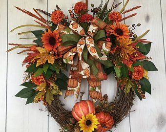 Fall Wreaths And Autumn Wreaths For Sale By Mysweethomedecorshop