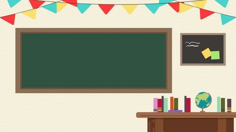Ilustrasi Latar Belakang Bilik Darjah Kartun Segar Classroom Background Classroom Themes Classroom