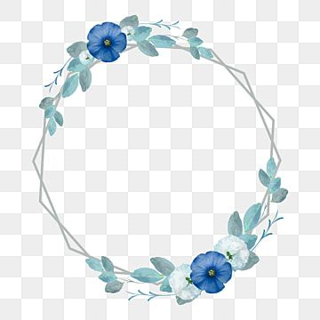 إطارات خمر متعددة الأضلاع مع زهر الزهور الزرقاء وأوراق ناقل الصورة فن جميلة زهر Png والمتجهات للتحميل مجانا Flower Frame Flower Texture Vintage Frames