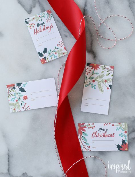 Winter Recipe Card and Gift Tag Printable   Inspired by Charm