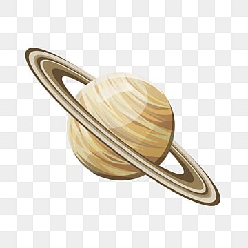 Planet Saturn Isolated Cartoon Illustration Saturn Clipart Planet System Png And Vector With Transparent Background For Free Download Cartoon Illustration Saturn Ring Vector