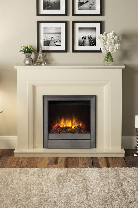 50 Amorina Deluxe Electric Fireplace In Almond Stone Home Fireplace Electric Fireplace Home Living Room