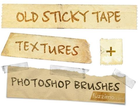 old sticky tape photoshop textures