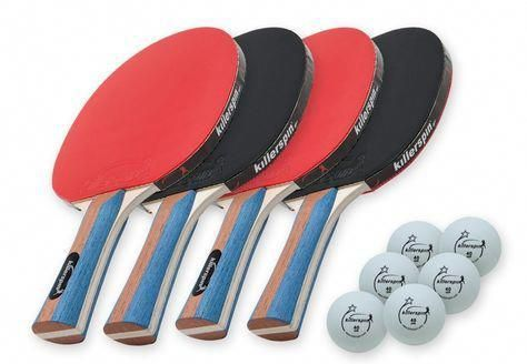 4 Table Tennis Paddle Set With 6 Balls Bat Ping Pong Rackets Pro Level Players Killerspin Ping Pong Paddles Table Tennis Racket Table Tennis