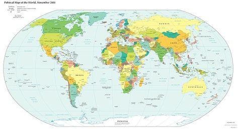 Online Politische Weltkarte Pdf Download Illustrierte Karten