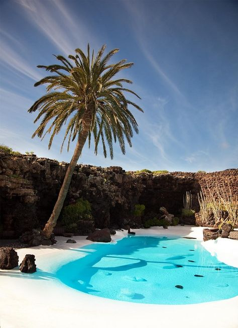Los Jameos del Agua, Lanzarote, Canary Islands, Spain ---not the caribean but had to post here! Places Around The World, Oh The Places You'll Go, Places To Travel, Around The Worlds, Dream Vacations, Vacation Spots, Casas Containers, Photos Voyages, Canary Islands