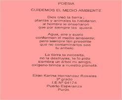 Resultado De Imagen Para Poema Para El Medio Ambiente