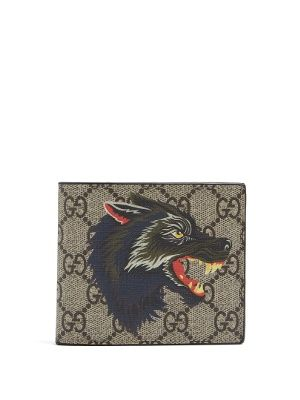 37a1a2d9bd Click here to buy Gucci GG Supreme wolf-print wallet at ...