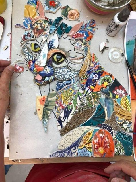 mosaic cat by Ivanéri Bernardes – Art design