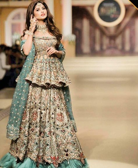 sajal aly in bridle couture week