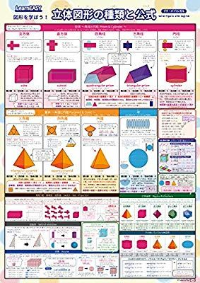 Amazon 2枚セット Learneasy 平面図形 立体図形バイリンガル