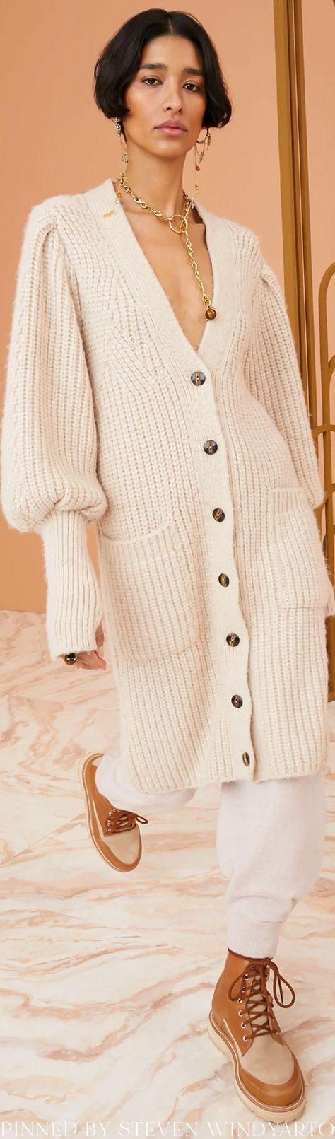 Ulla Johnson Fall 2021 Lookbook - Aiden Cardigan #fall2021 #fw21 #womenswear #ullajohnson
