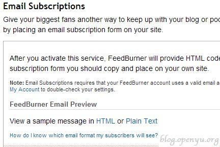 Blog透視鏡 Feedburner使用email訂閱epaper電子報 Email Subscription Form Email Subscription Coding