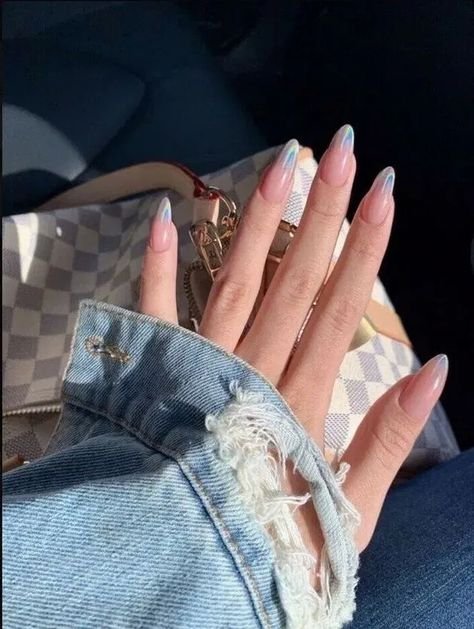 and denim jacket -Nails and denim jacket - Top 50 Gel Nails 2019 To Try Them beautiful acrylic short square nails design for french manicure nails 16 ~ my.easy- Image of Amellie pinky signet ring Alongamento de Unhas: Técnicas, Duração e Cuidados!