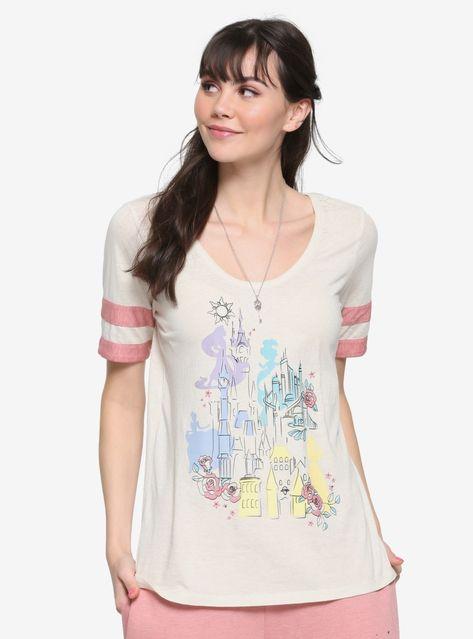 f9dcde36f8 Her Universe Destination Disney Princess Castle Girls Athletic T-Shirt