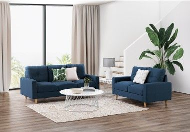Keller Furniture Sofa Pair Fabric Sofa