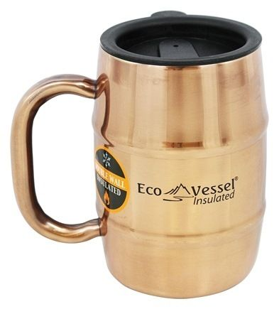 Eco Vessel Double Barrel Insulated Stainless Steel Coffee