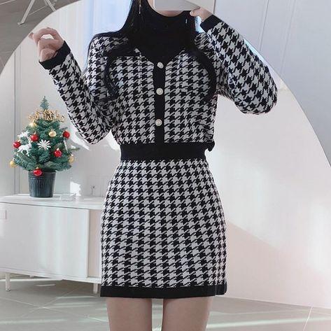 Woman classy clothing aesthetic style fall 2021 gentle korea shopping tiktok college