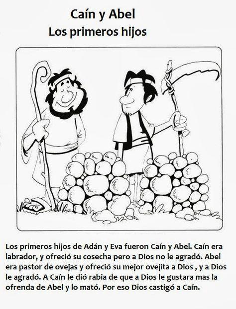 54 Ideas De Actividades Biblicas Actividades Cain Y Abel Escuela Dominical