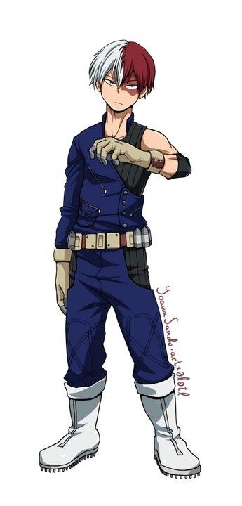 Shoto Costume Upgrade Body Hero Anime Character Design My Hero Academia Costume