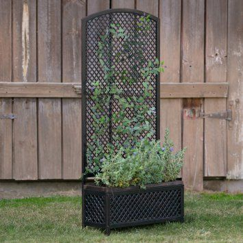 Planter With Trellis Decorative Planters Planter Trellis Planter Box With Trellis