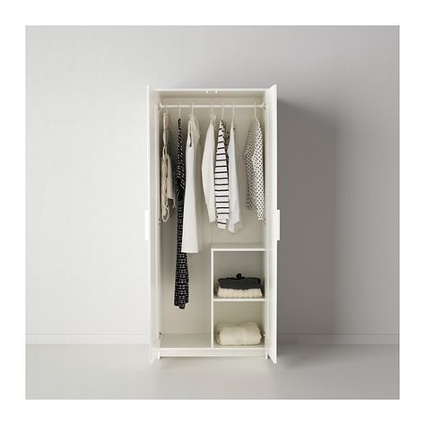 Armadio Ikea Brimnes 2 Ante.Brimnes Wardrobe With 2 Doors White Home Ikea Brimnes Wardrobe