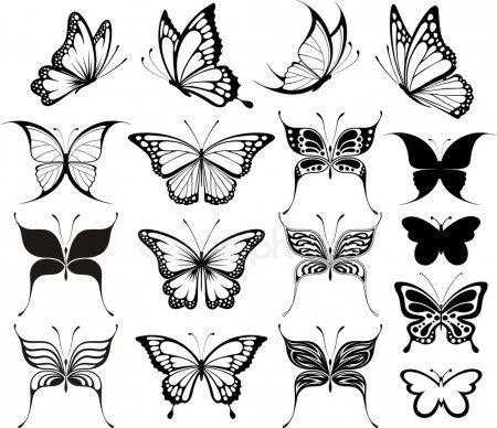 schmetterling vektor satz tattooideen butterfly tattoo designs small tiny lizenzfreie vektorgrafiken hund vektorgrafik