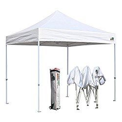 Eurmax Basic 10x10 Ez Pop Up Canopy Tent Entry Commercial Level Roller Bag White Canopy Tent Canopy Outdoor Canopy Tent Outdoor