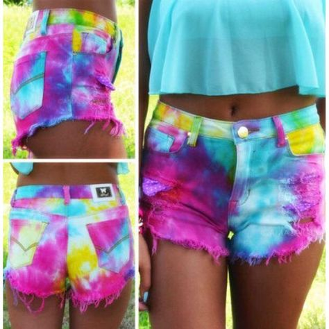 Summer Daze Tie Dye High Waisted Cutoffs from Amazing Lace. Saved to Epic Wishlist🙌.