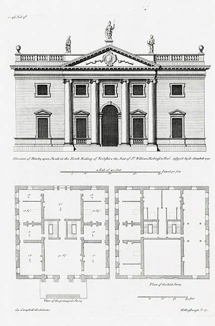18th Century English Palaces And Stately Homes From Vitruvius Britannicus Vintage House Plans Stately Home English Manor Houses