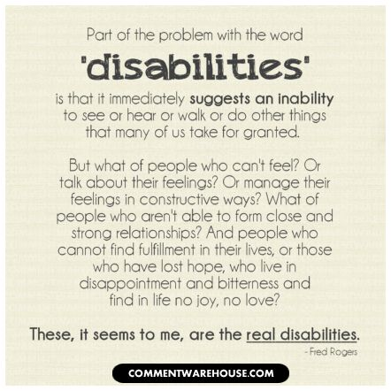 Inspirational Quote About Disabilities - For assistance with