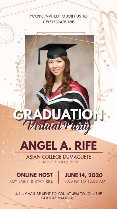 Graduation Virtual Party Digital Display In 2021 Graduation Poster Virtual Party Congratulations Graduate