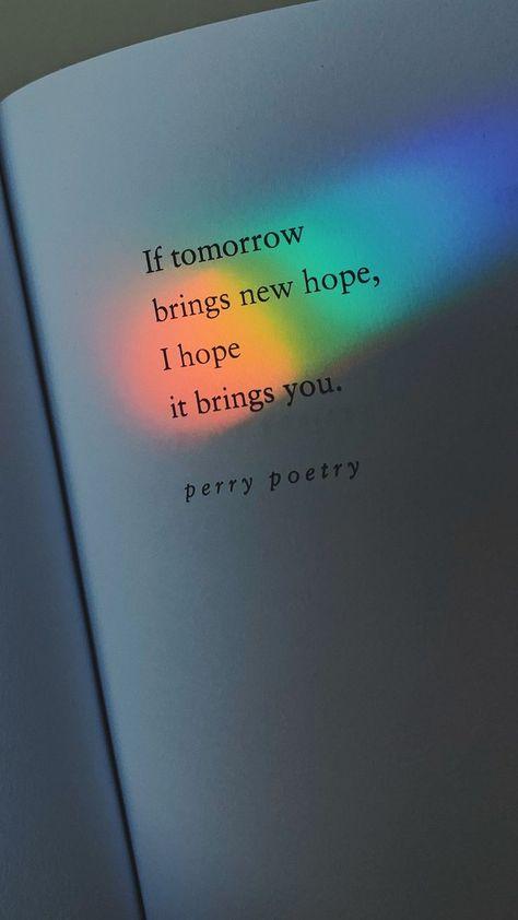 Regenbogen Zitat Fotografie. Perry Poetry