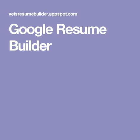 Best ideas about Google Resume, Google Resources and Resume - resume builder google