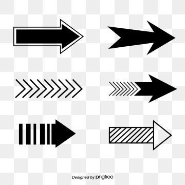 Set Of Black And White Color Set Of Arrow Signs Arrow Instructions Symbol Png And Vector With Transparent Background For Free Download Paper Background Texture Black And White Cartoon Arrow Signs