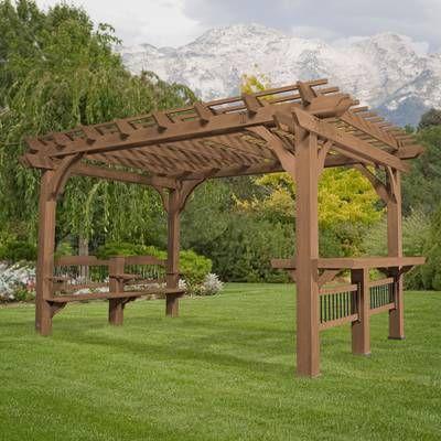 Oasis 14 Ft W X 10 Ft D Cedar Pergola Outdoor Pergola Backyard Pergola Pergola Plans