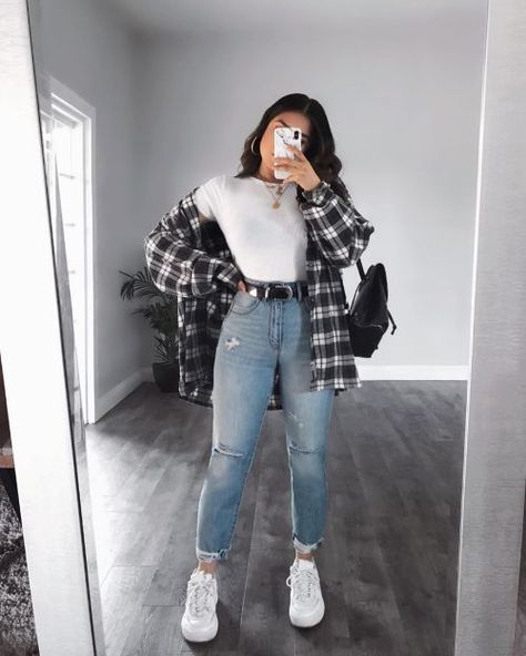 20 Cool Flannel Shirt Outfits - Society19
