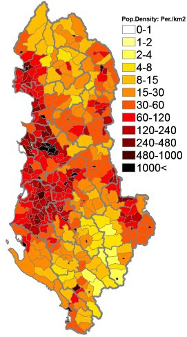 Image result for Albania Map and Population