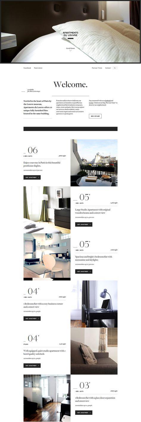 Apartment Website Design Amazing Inspiration Design
