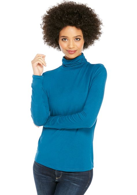 e9cfecaee41 THE LIMITED Long Sleeve Fashion Turtleneck Top | Fashion Ideas ...