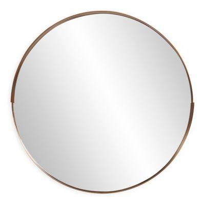 Howard Elliott Intrepid 20 Inch Round Mirror In Brass Round Mirrors Mirror Stainless Steel Frame 20 inch round mirror
