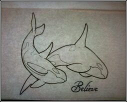 Rough idea of the future orca tattoo I plan on getting.