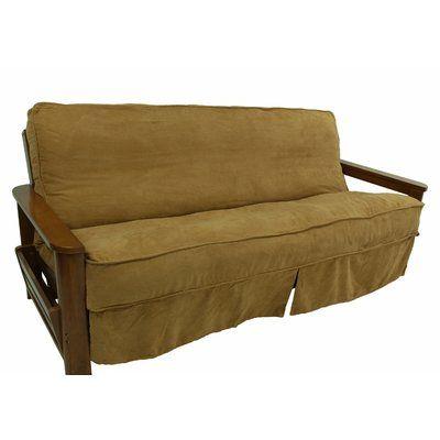 Winston Porter Box Cushion Futon Slipcover Futon